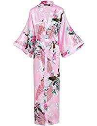 Amazoncouk Pink Dressing Gowns Nightwear Clothing