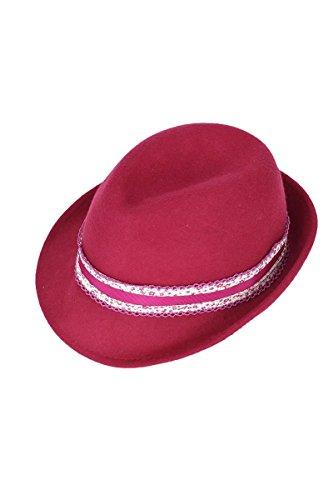 Damen Faustmann Hüte Damen Trachtenhut mit Blumenbordüre pink, pink, 55