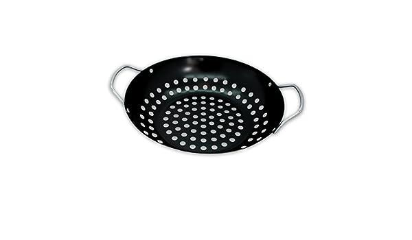 Enders Gasgrill Wok : Bbq collection antihaftbeschichteter grill wok grillschale für