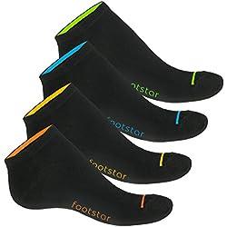 8 pares de calcetines tobilleros fosforescentes unisex - 39/42