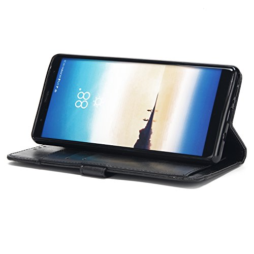 Galaxy Note 8 Case, Portafogli Con Cerniera Mo-beauty® Portafoglio Multifunzione Con Cerniera In Pelle Con Custodia [foglio Rimovibile] [slot Per Carte Di Credito] [pulsante Magnetico] Borsa Nera