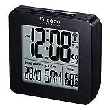 Oregon Scientific RM511 Horloge Radio-pilotée avec Double Alarme de réveil, Noir