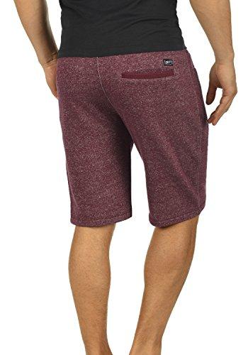 BLEND Rigins Herren Sweat-Shorts kurze Hose Sport-Shorts aus 100% Baumwolle Wine Red (73812)