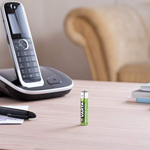 Varta Phone Accu Micro NiMh Akku (AAA 2er Pack, 800 mAh, geeignet für schnurlose Telefone, wiederaufladbar ohne Memory-Effekt – sofort einsatzbereit) - 3