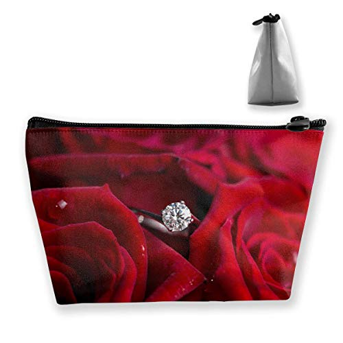 Trapez-Kulturbeutel Tragbare Reisetasche Diamantring In der Rose Make-up-Tasche