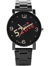 9359ae8181c592 Kevin 520LOVE creative coppie orologi per orologi da uomo e da donna,  fascia nera in