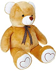 Amazon Brand- Jam and Honey Brown Teddy 3.5 Feet Standing