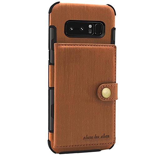 FLY HAWK Hülle Handy Wallet mit Kartenfächer Lederhülle Wallet Case Schutzhülle Taschen [Premium PU] [Geldbörse] für Samsung Galaxy S8/S9 [Galaxy S8/S9 Plus] [Note 8/9] in vielen Farben