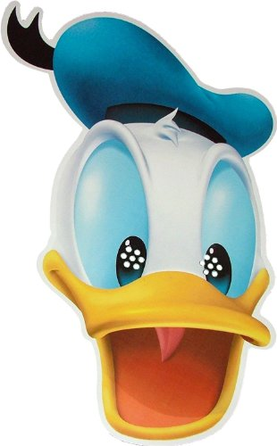 Disney's - Donald Duck - Card Face Mask (Halloween Donald Duck)