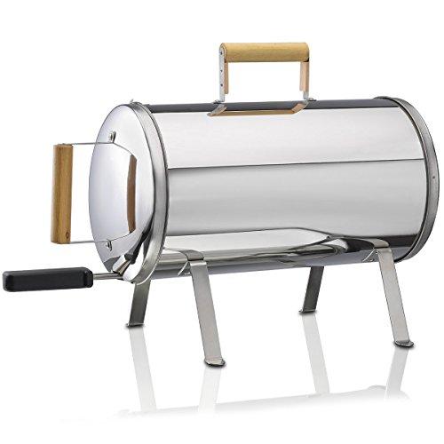 Adexi Tischräucherofen Smoker Grill zum Heißräuchern Kompakter Räucher-Ofen mit Grill-Rost 41,5 x 24 cm elektrisch Räuchergrill