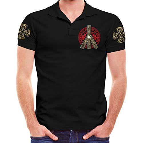 Männer und Herren Polo Shirt Wir sehen Uns in Walhalla (mit Rückendruck) Größe S - 10XL