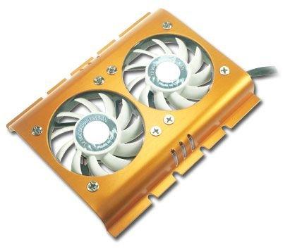 Connectland VEN-HD-FS02 - Ventilador Doble Disco Duro