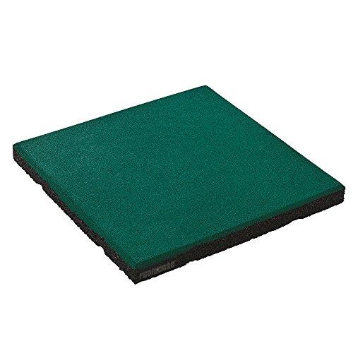 fallschutzmatten spielplatz FATMOOSE Sicherheitsmatte SoftSafe XL Fallschutzmatte Gummimatte mit Befestigungsstiften, ca. 50 x 50 x4,5cm, grün