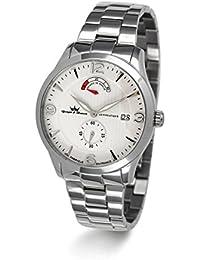 Yonger & Bresson  - Reloj automático para hombre, correa de acero inoxidable color plateado