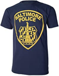 Baltimore Police Department Mens Black The Wire Film Inspired Navy Blue T Shirt