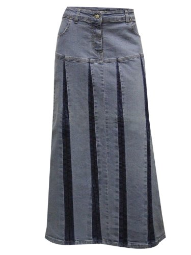 Clove Long A Line Pleated Denim Full Skirt (18) for sale  Delivered anywhere in UK