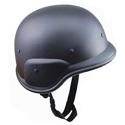 Faderr Fahrradhelm, Kunststoff, Camouflage-Helm, Motorradhelm, Armee-Helm mit Zifferblattanpassung, für Erwachsene, Schwarz, Free Size