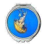 Specchio, Specchio da viaggio, meduse oceano mare, specchio tascabile, specchio portatile