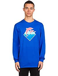 Waves PD Blue Tie Dye T-Shirt blue Pink Dolphin