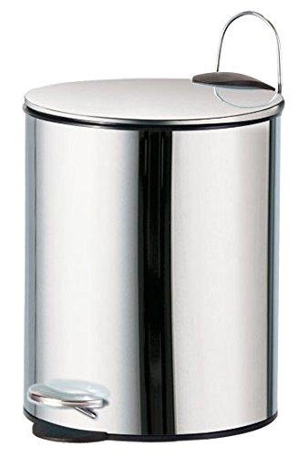 Treteimer MAURICE 5 Liter - Edelstahl - Mülleimer Bad Accessoires, in weiß und chrom erhältlich, Farbe: chrom