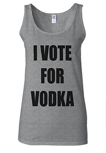 I Vote For Vodka Funny Tumblr White Women Vest Tank Top Spotif Gris