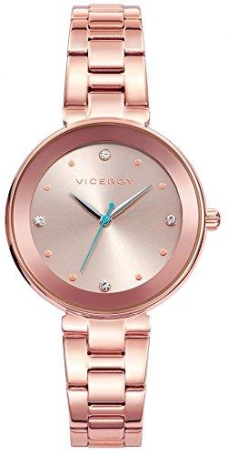 Viceroy Femmes Analogique Quartz Montre avec Bracelet en Acier Inoxydable 401040-90