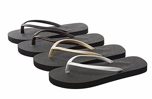 FLYRCX Tacco piatto antiscivolo Beach Flip Flop e individuale alla moda flip flop b