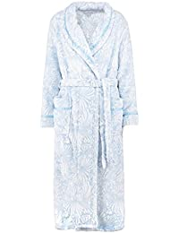 46915ccc0c Slenderella HC7307 Women s Blue Floral Dressing Gown Robe Housecoat