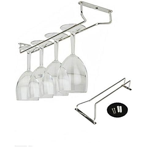 Tinksky Supporto di filo di vetro Hanger Champagne vetro Rack