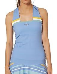 Naffta Tenis Padel Camiseta Tirantes, Mujer, Azul (Serenity/Nile Blue),