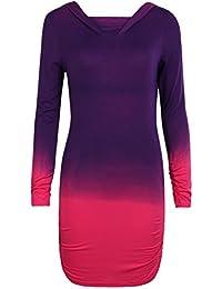 Domybest Mode-Farbverlaufs-Druck-Bodenbildungspullover beiläufige dünne  Hoodie-Sweatshirts 3a8af94cfa
