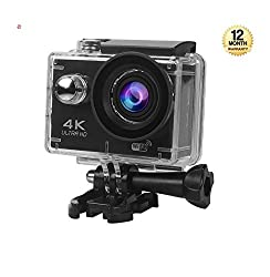 Supreno Action Camera NTSE Ultra HD 4K WiFi Sport Camera 1080P/60fps 2.0 LCD 170D Lens Helmet Cam Go Waterproof Pro Camera 30m Waterproof Cameras