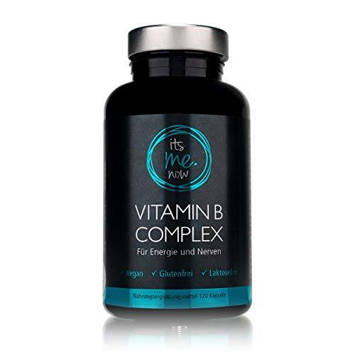 itsme.now Vitamin B Complex hochdosiert vegan I Nahrungsergänzung für Energie & Nerven I veganes Kombi-Präparat mit allen acht B Vitaminen I 120 pflanzl Vitaminkapseln mit hoher Bioverfügbarkeit