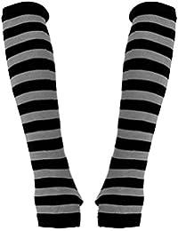 Armstulpen schwarz grau gestreift