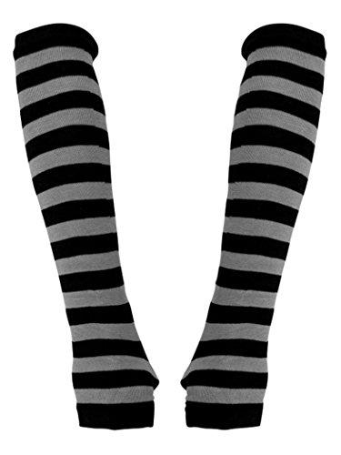 Armstulpen schwarz grau gestreift gebraucht kaufen  Wird an jeden Ort in Deutschland