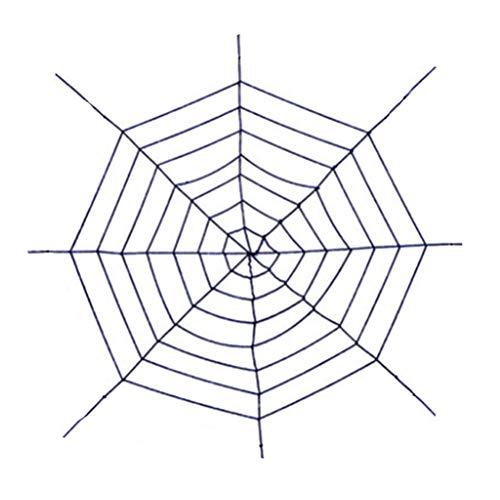 1Anberi Halloween Riesenspinnennetz Halloween-Dekorationen Riesiges Stretch-Spinnennetz Stellen Sie rundes gefälschtes Spinnennetz EIN Gruseliges Dekor Innenhof