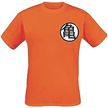 Dragonball Symbols Camiseta Naranja