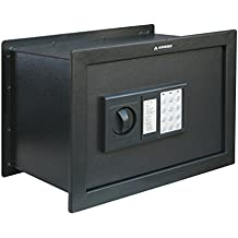 Arregui W25EB - Caja fuerte de empotrar electrónica con pomo (380 x 280 x 250 mm) color gris oscuro