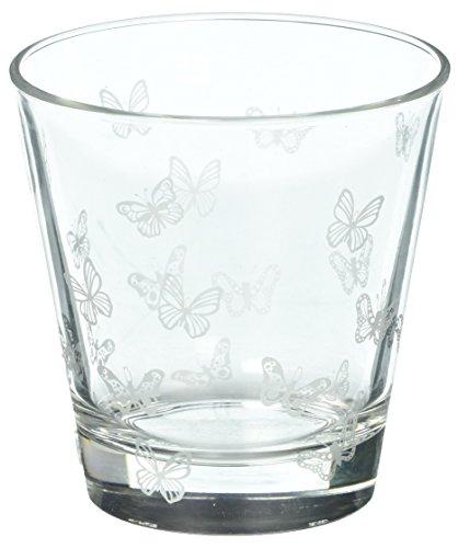 Sagaform Papillon en verre 4-Pack Blanc
