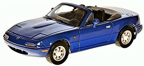 Mazda MX-5 Miata MkI, met.-blau , Modellauto, Fertigmodell, Motormax 1:24 (Modellauto Mazda Mx 5)