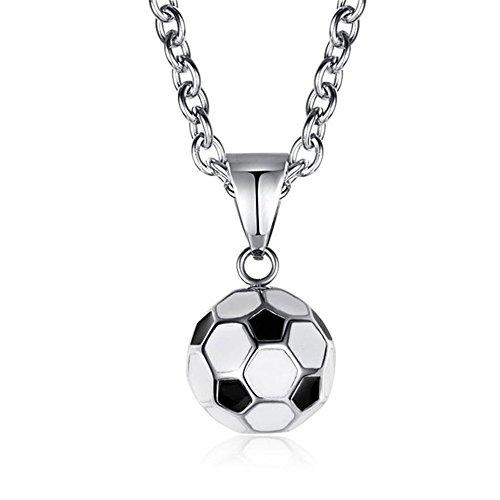 RainBabe World Cup Fußball Anhänger Sportausrüstung Halskette Titan Stahl Fanartikel