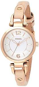 Fossil Georgia Mi Analog White Dial Women's Watch - ES3745