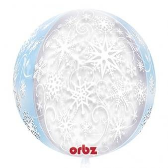 Orbz Snowflake See-Thru Round Foil Balloon (2-Pack) by International Balloons