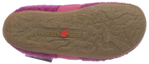 Haflinger Jonas, Chaussons courts, non doublées fille Rose - Pink (22 kadinal)