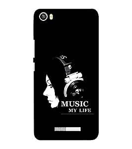 EPICCASE Music my Life Mobile Back Case Cover For Lava Iris X8 (Designer Case)