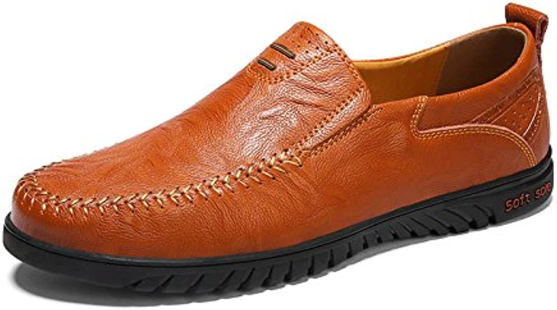 Donyyyy Der Fuß slacker Schuh Männer Schuhe  Rot Braun  37