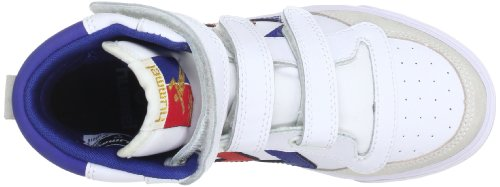 Hummel 63-676-9228, Baskets mode mixte enfant Blanc (White/Blue/Red/Gum)