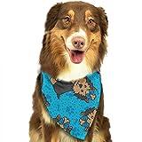 Osmykqe Hund Bandana Yorkie Party Hundelätzchen Trangle Kopftuch für Katzen Pupply Big Dog Soft