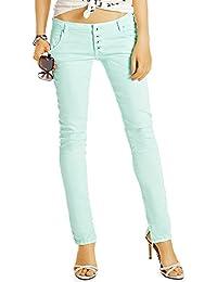 Bestyledberlin Damen Jeans, Schmale Sommer Hüftjeans, Weiche Slim Fit Baumwoll Hosen j59i