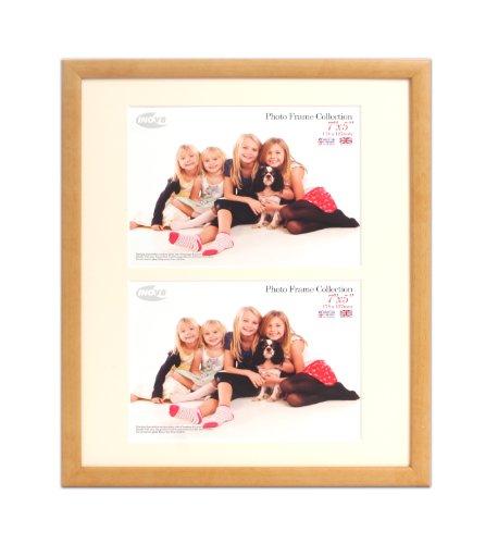 Inov8 PFVD-VNAT-DA2 Traditionell Briten Foto und Bilderrahmen, 25 x 30 cm, Dual Blende 2x 13 x 18 cm, Packung mit 2, value natur